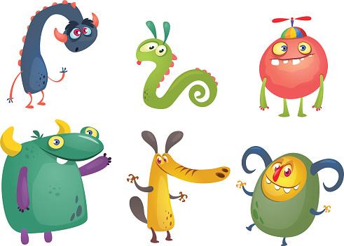 Cartoon monster stock illustrations