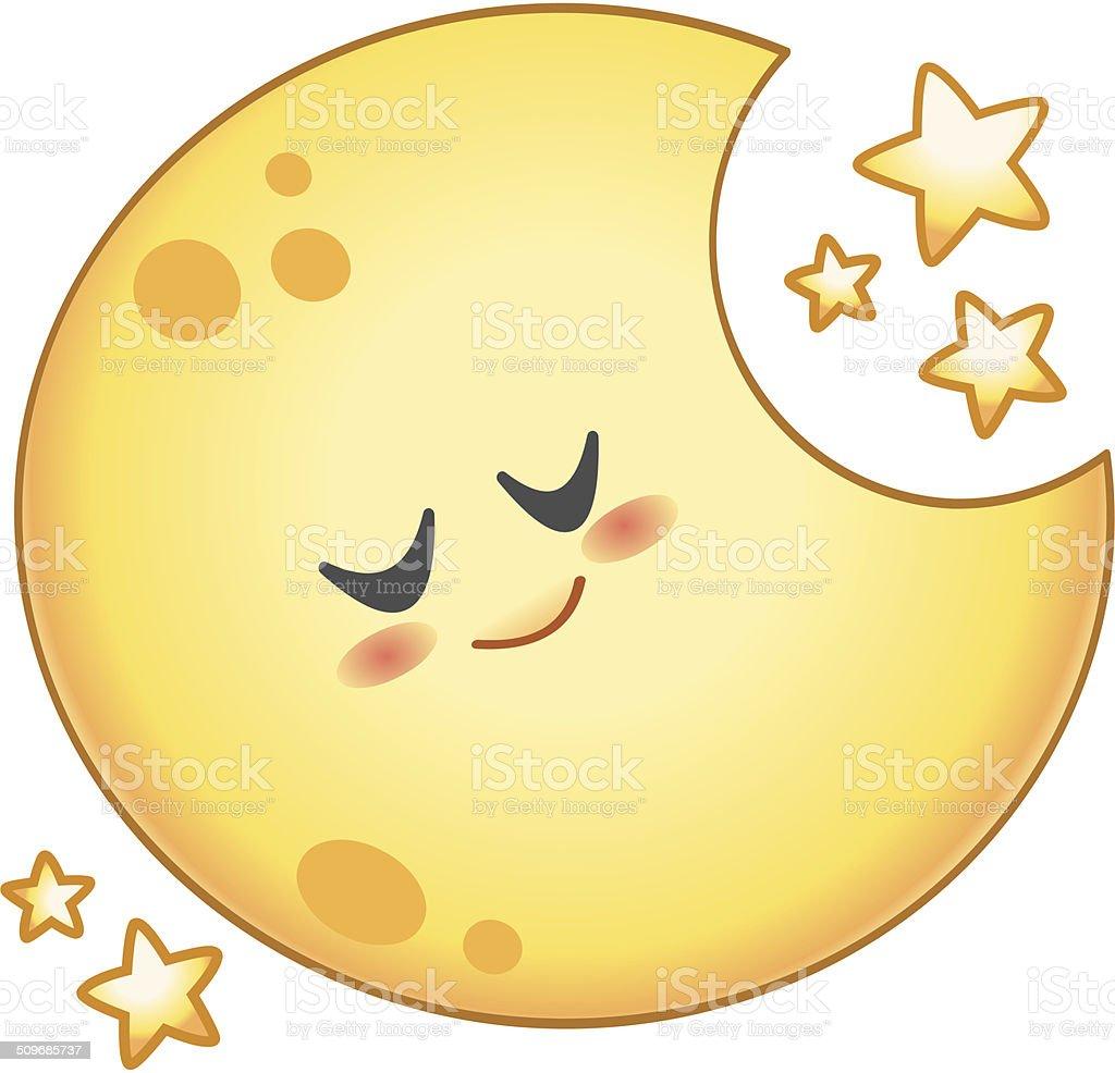 Lune Dessin Anime Vecteurs Libres De Droits Et Plus D Images Vectorielles De Astronomie Istock