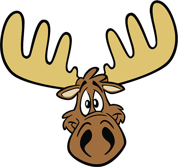 Cartoon Moose Head Great illustration of a cartoon moose head. Perfect for a nature illustration. EPS and JPEG files included. Be sure to view my other illustrations, thanks! elk stock illustrations