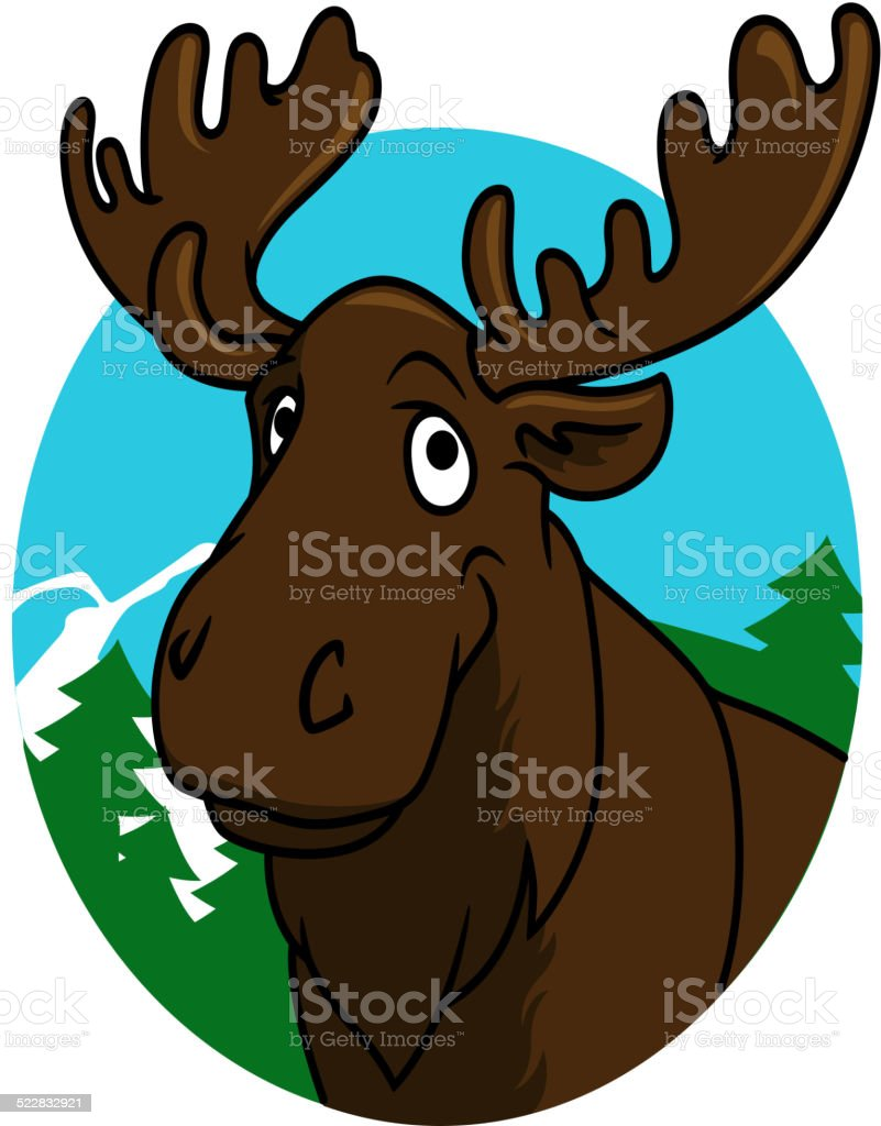 Cartoon Moose Or Elk Stock Vector Art More Images Of Alaska Us