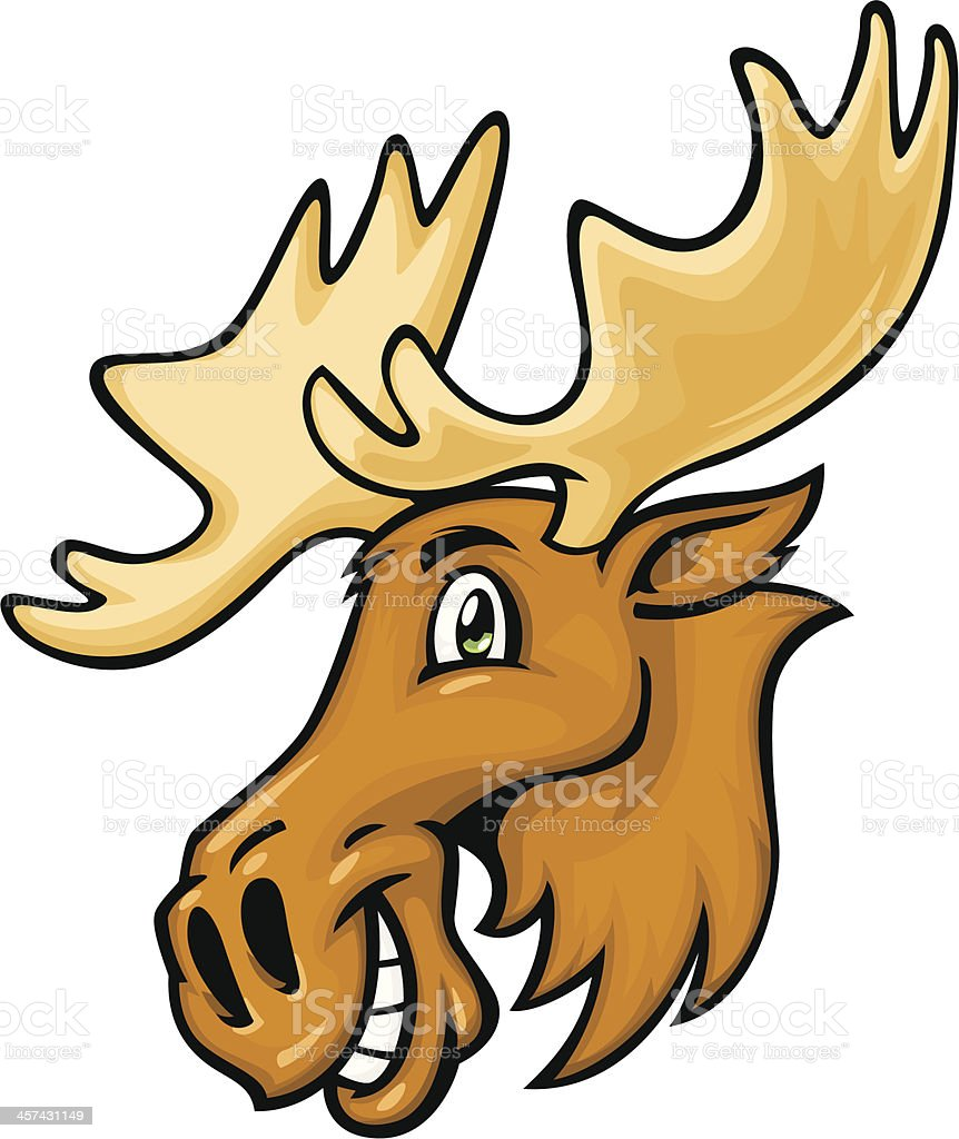 Cartoon Moose Stock Vector Art More Images Of Animal 457431149