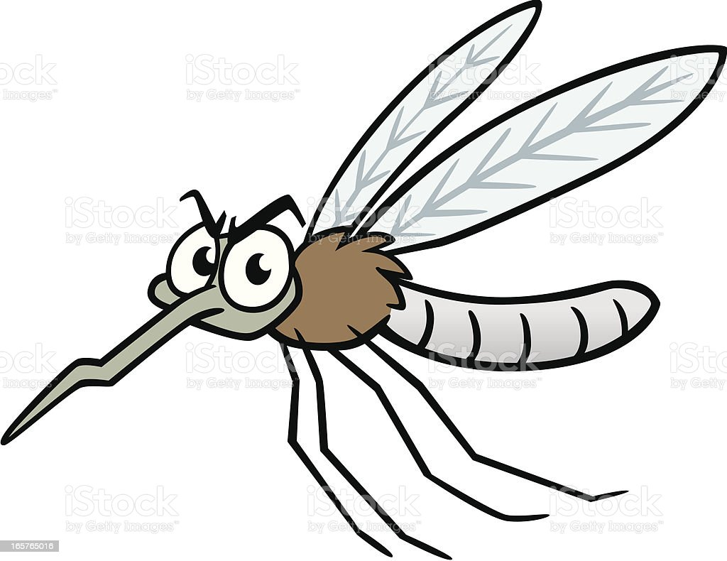 Cartoon Mosquito vector art illustration