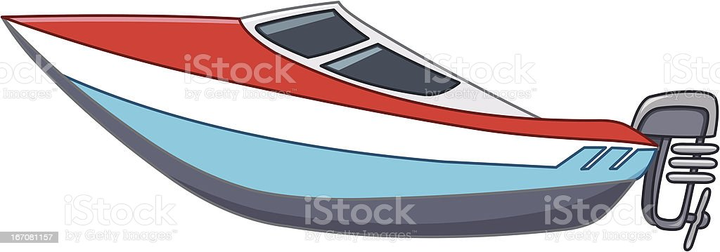 Cartoon motorboat royalty-free cartoon motorboat stock vector art & more images of aquatic organism