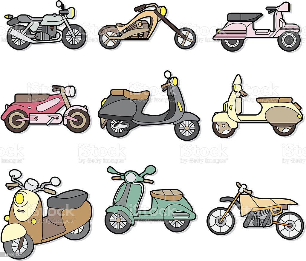 cartoon motorcycle royalty-free stock vector art