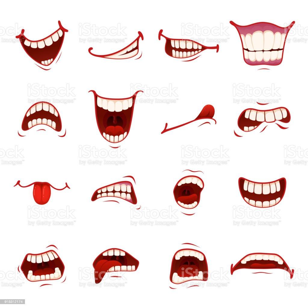 Cartoon-Mund mit Zähnen - Lizenzfrei Anatomie Vektorgrafik