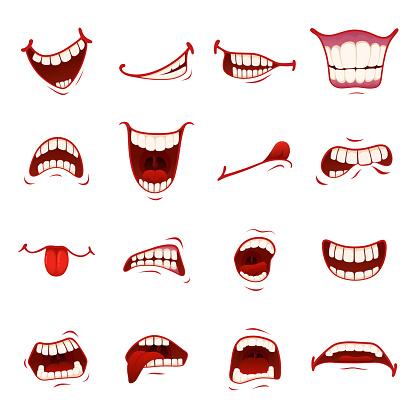 Cartoonmund Mit Zähnen Stock Vektor Art und mehr Bilder von Anatomie