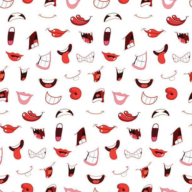 Dessin animé bouche motif - Illustration vectorielle