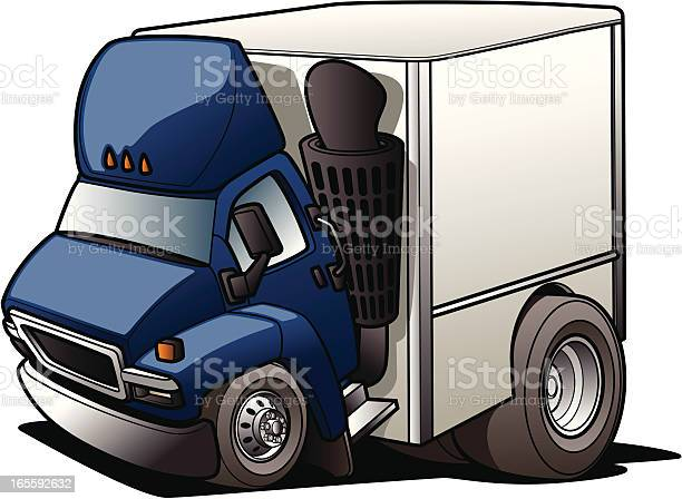 Cartoon Moving Truck Stock Illustration - Download Image Now