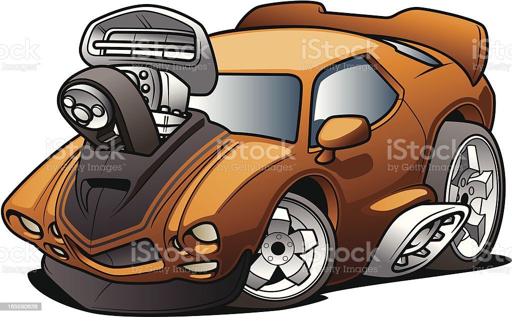 Cartoon Muscle Car royalty-free cartoon muscle car stock vector art & more images of car