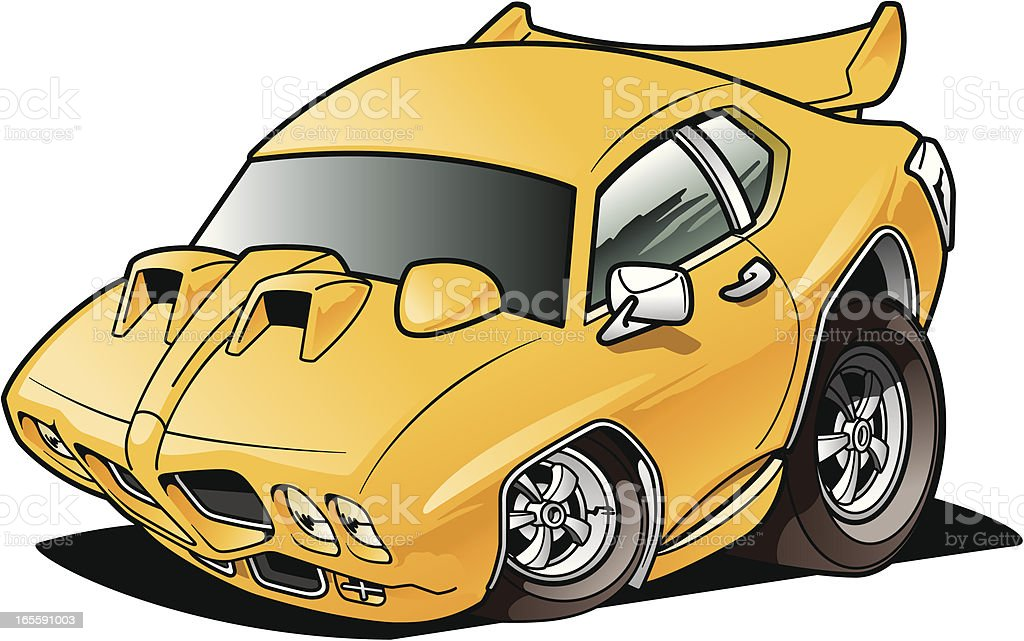 cartoon muscle car stock vector art more images of car 165591003 rh istockphoto com classic car vector art car vector art side view