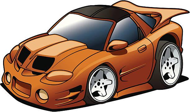Cartoon Muscle Car vector art illustration