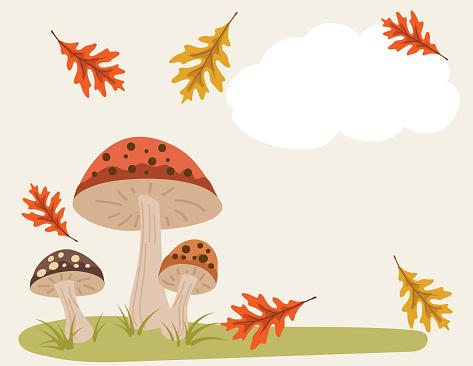 Cartoon Mushroom Background