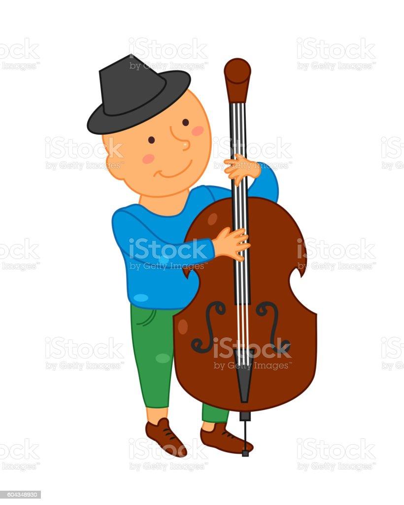 Cartoon musician kid. Vector illustration for children music vector art illustration