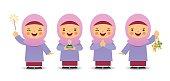 Cartoon muslim girl_purple