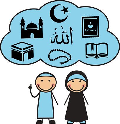 Cartoon Muslims and Muslim symbols