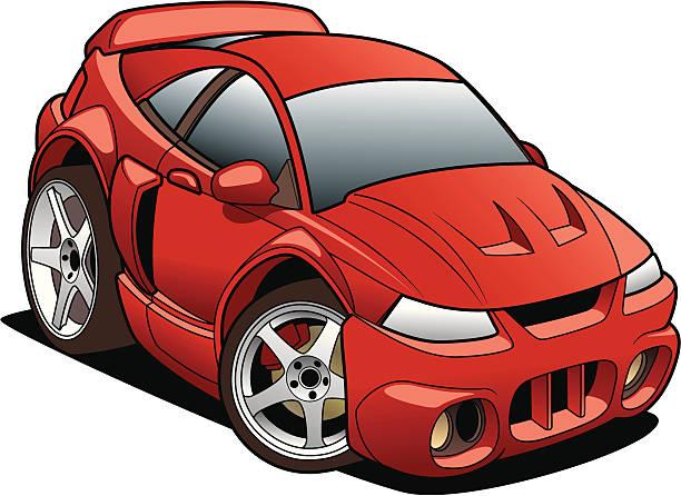 Cartoon Mustang vector art illustration