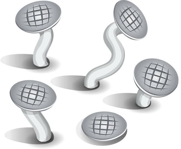 comic nägel set - nagelspitze stock-grafiken, -clipart, -cartoons und -symbole
