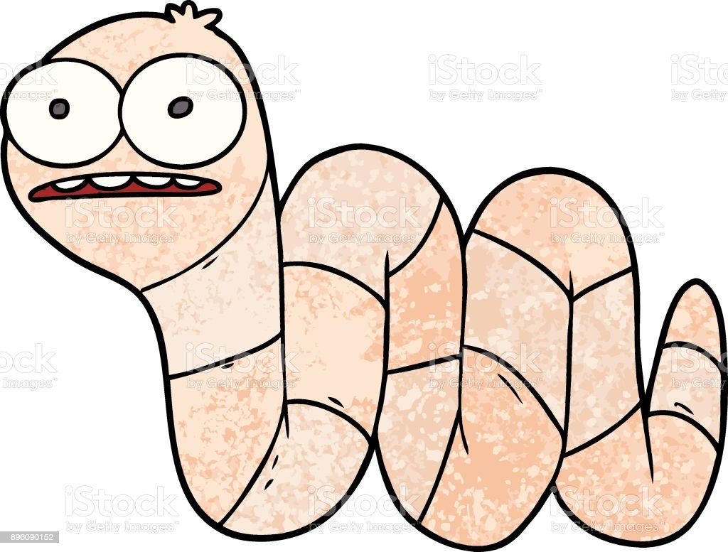 cartoon nervous worm stock vector art more images of animal