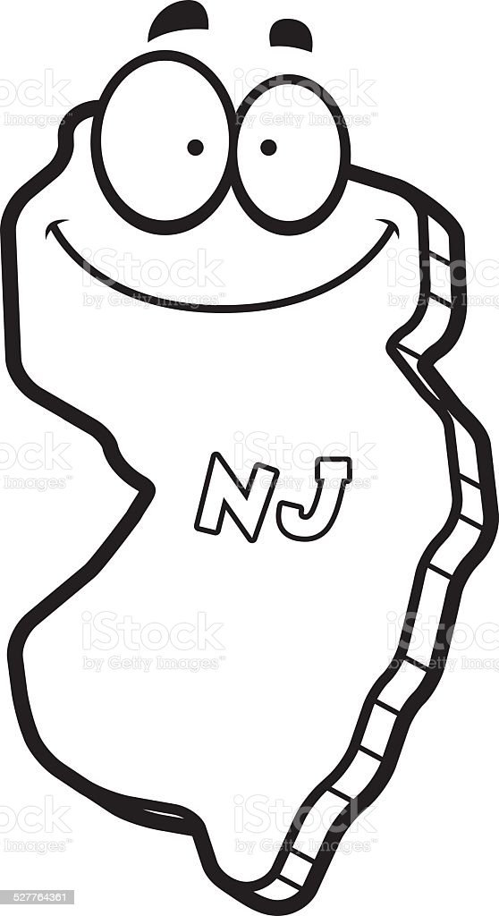 royalty free cartoon of state new jersey clip art vector images rh istockphoto com new jersey flag clipart