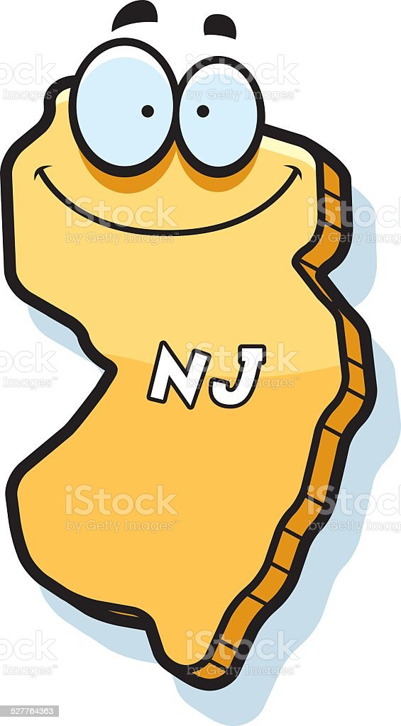 royalty free state new jersey cartoon clip art vector images rh istockphoto com  new jersey outline clipart