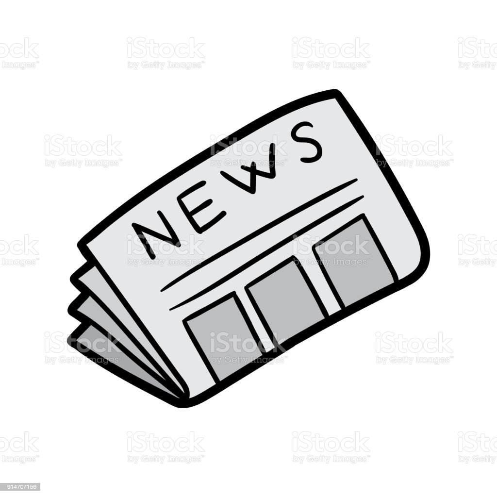 cartoon newspaper vector illustration stock vector art more images rh istockphoto com newspaper victoria bc newspaper vector free