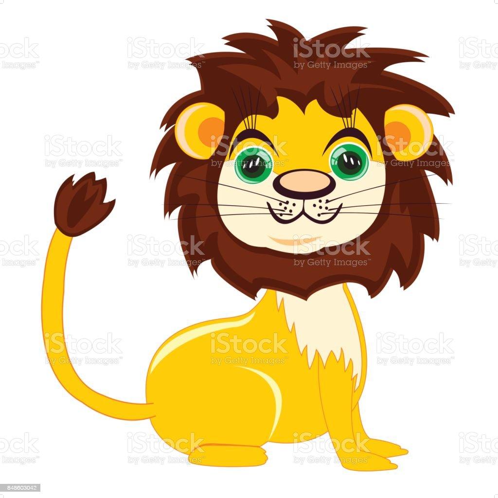 Dessin Sympa dessin animé sympa lion – cliparts vectoriels et plus d'images de