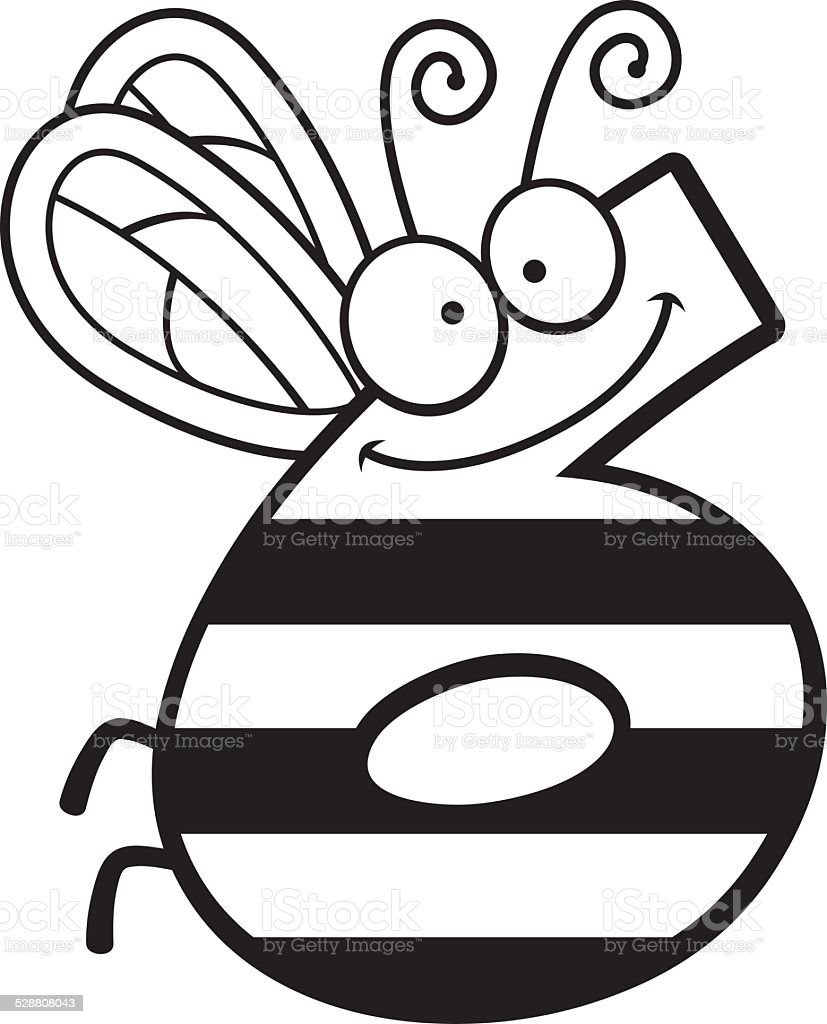 cartoon number six bug royalty free stock vector art