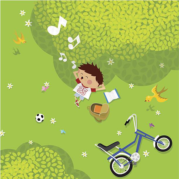 sommer zeit - lustige fahrrad stock-grafiken, -clipart, -cartoons und -symbole
