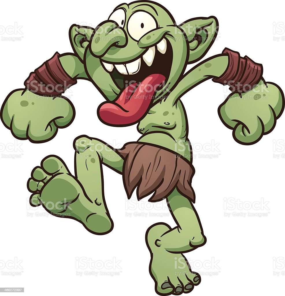 Cartoon of a crazy green troll dressed in bearskin royalty-free cartoon of a crazy green troll dressed in bearskin stock vector art & more images of bizarre
