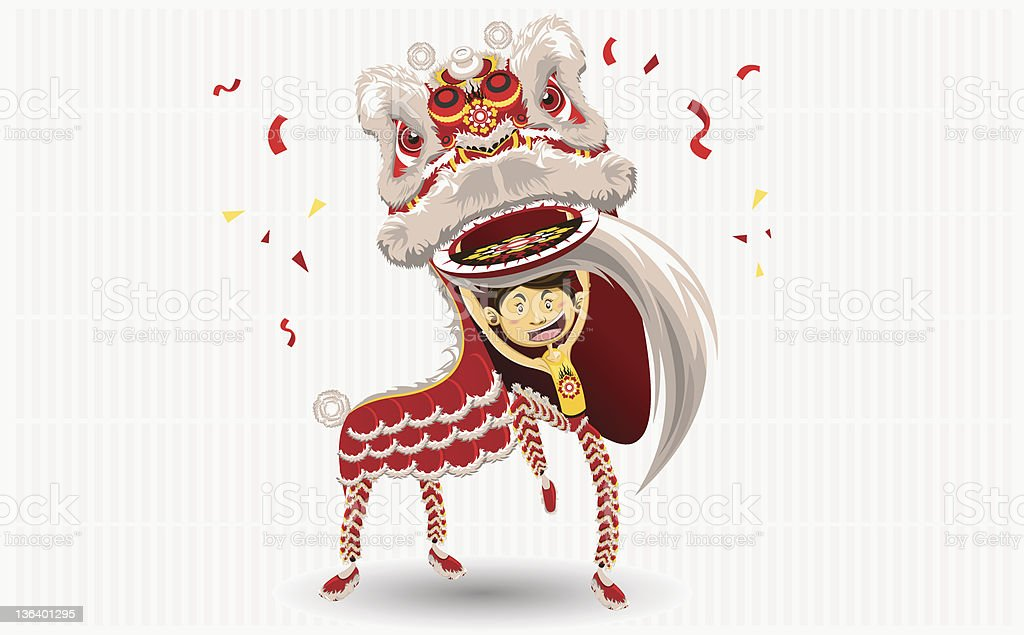 A cartoon of a dancing Chinese lion royalty-free a cartoon of a dancing chinese lion stock vector art & more images of 2012