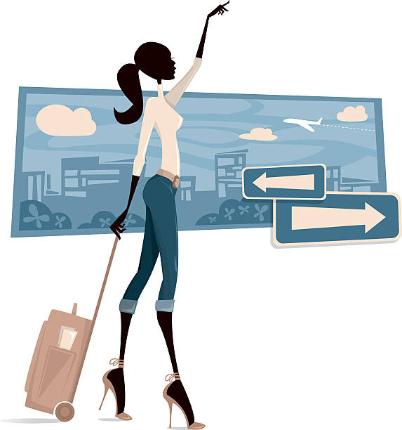 ilustrações, clipart, desenhos animados e ícones de no aeroporto - viagem de primeira classe
