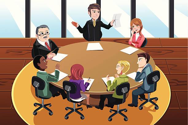 Blog - CaringCent |Business Meeting Cartoon Person