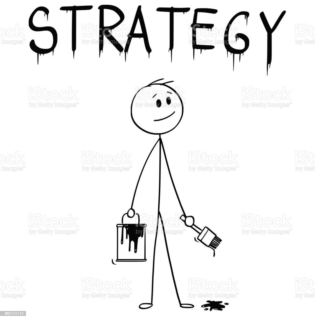 Karikatur Firca Ve Boya Ile Isadami Olabilir Kelime Strateji