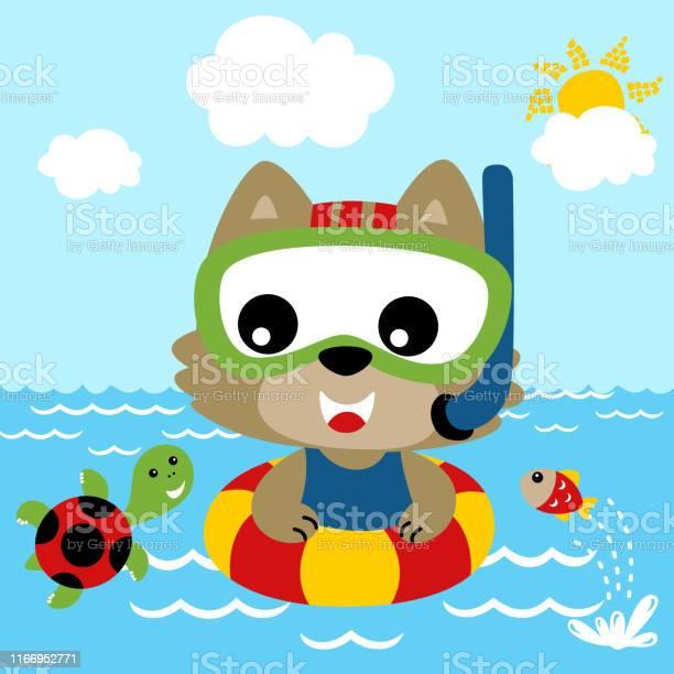 Cartoon of cat swimming with little friends vector id1166952771?b=1&k=6&m=1166952771&s=612x612&h=itxbqolxofjdyuesxjp6hhl2mprrrz5ostgrd3vvvrq=