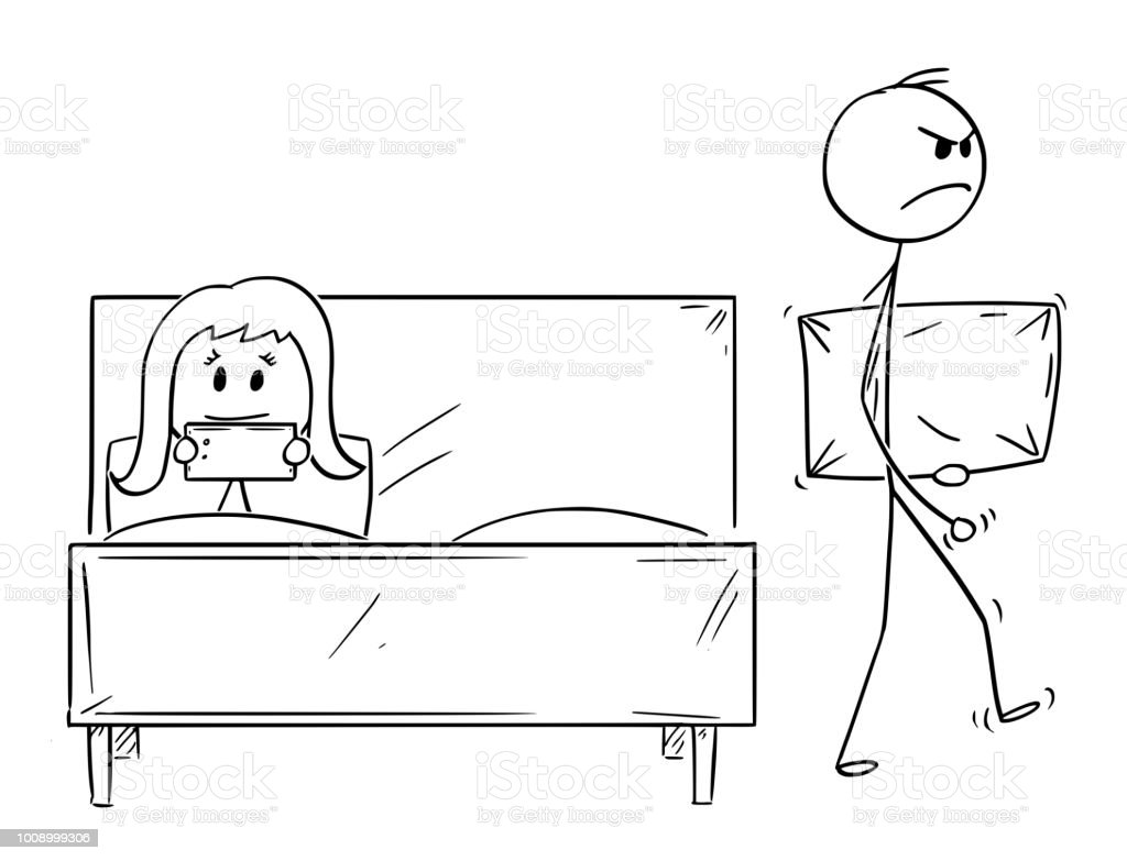 Karikatur Von Paar Mann Von Frau Abgelehnt Wurde Und Ist Verlassen