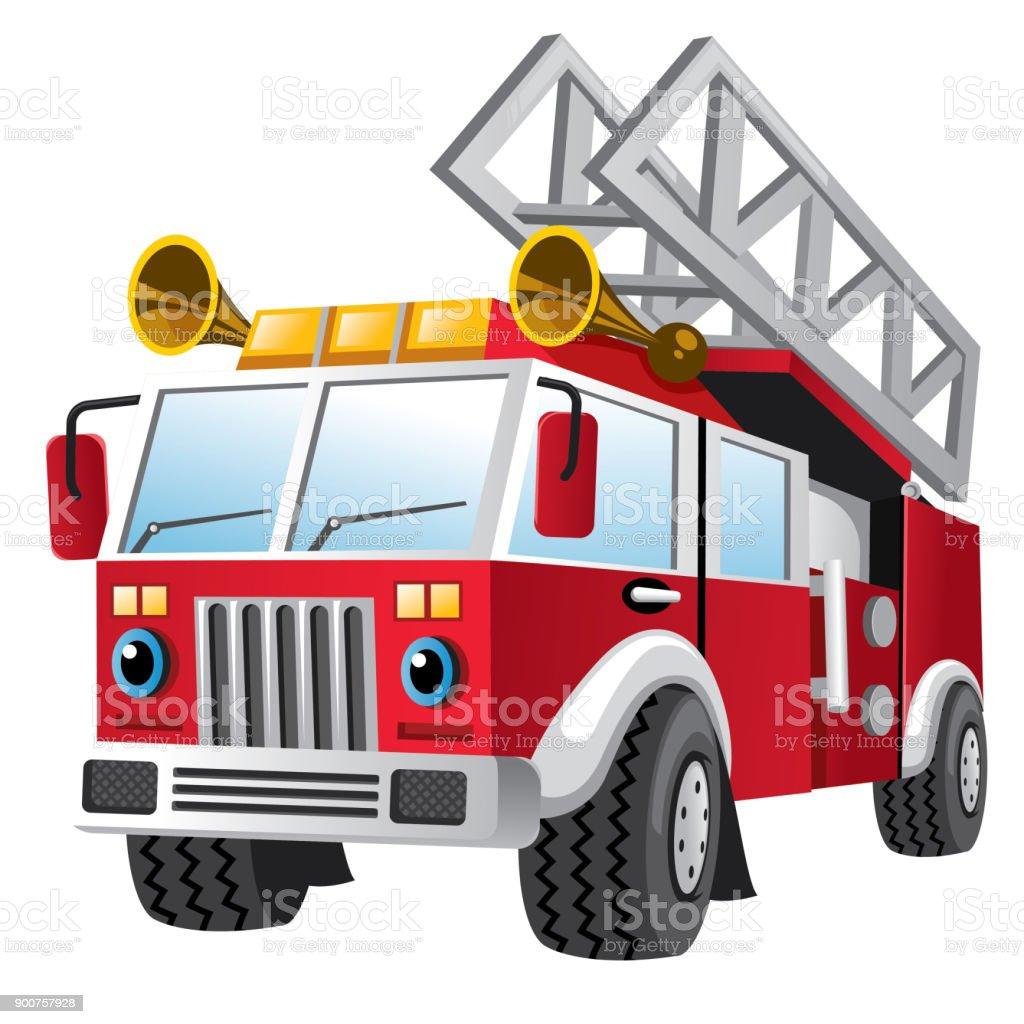 Dessin Anime De Camion De Pompiers Vecteurs Libres De Droits Et Plus D Images Vectorielles De Bonheur Istock