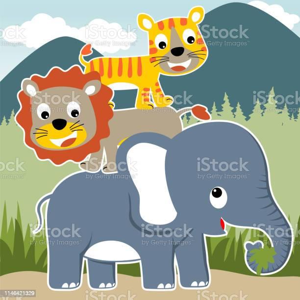 Cartoon of friendship between animals vector id1146421329?b=1&k=6&m=1146421329&s=612x612&h=9nqbbxbhbxulhtvatokeilokowlwj0wudtvviy0l2pq=