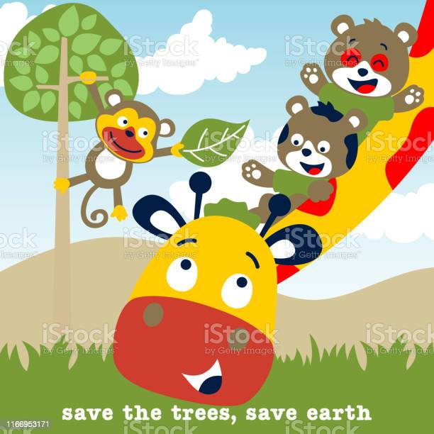 Cartoon of giraffe and friends in the zoo vector id1166953171?b=1&k=6&m=1166953171&s=612x612&h=5nnak atci90atiwmuxqnginx7a5lurx2viyuhy9loe=