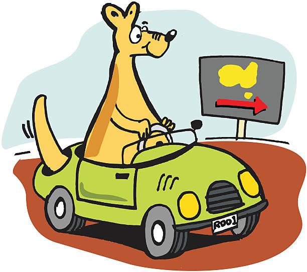 Royalty Free Funny Kangaroo Clip Art, Vector Images ...