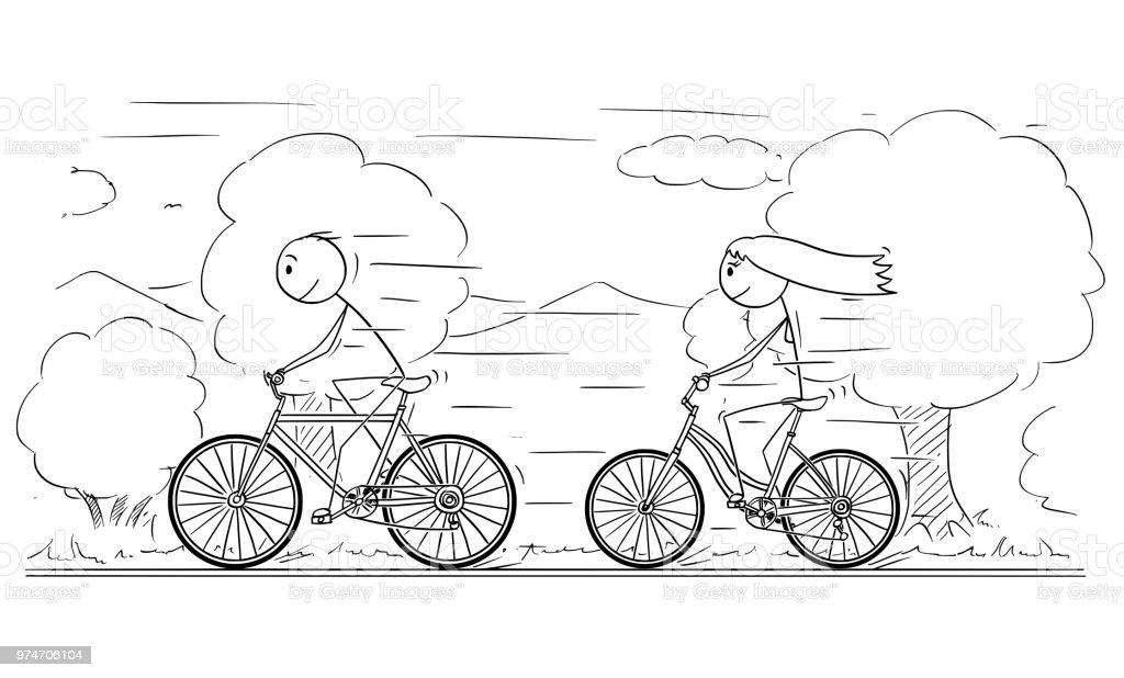 ilustração de desenhos animados de homem e mulher ou menina e menino