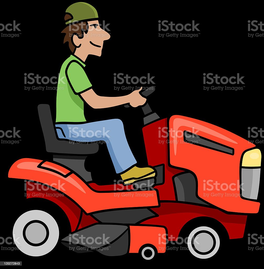 royalty free riding lawn mower clip art vector images rh istockphoto com free clipart lawn mower clipart lawn mower black and white