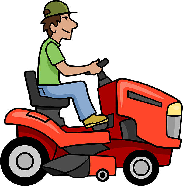 Royalty Free Riding Lawn Mower Clip Art, Vector Images ...