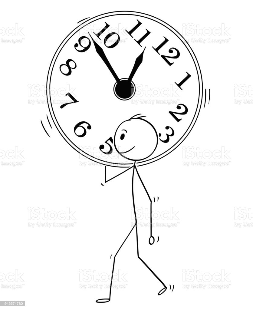 Pared Hombre O Ilustración Grande De Caricatura Reloj mnw8yvN0O