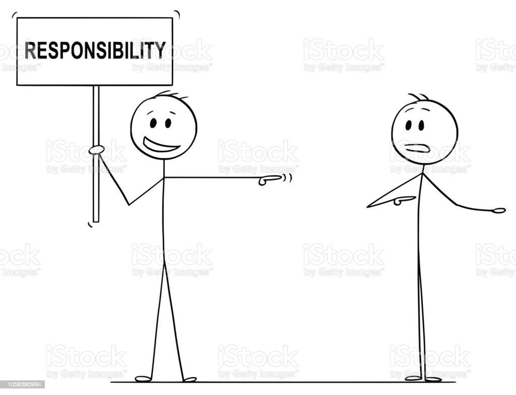 Ilustración De Dibujos Animados De Hombre O De Hombre De Negocios