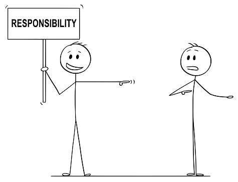Vetores de Desenho Animado Do Homem Ou Empresário Segurando Sinal De  Responsabilidade E Culpar O Outro Homem e mais imagens de Abuso - iStock