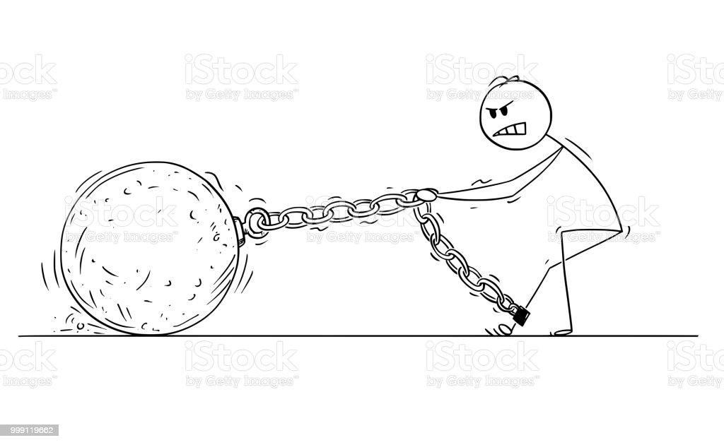 Ilustración de Dibujos Animados De Hombre O De Hombre De Negocios ...