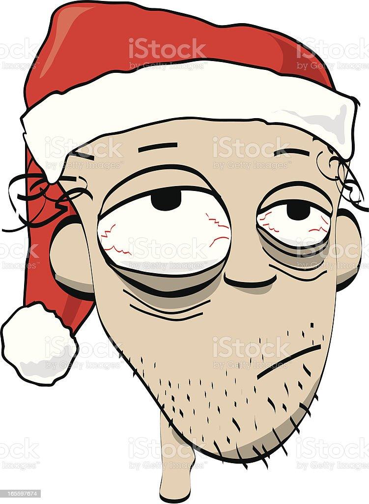 Cartoon of partied out man! vector art illustration