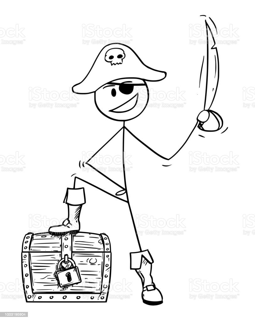 Dessin anim de pirate avec sabre et coffre au tr sor cliparts vectoriels et plus d 39 images de - Dessin de sabre ...