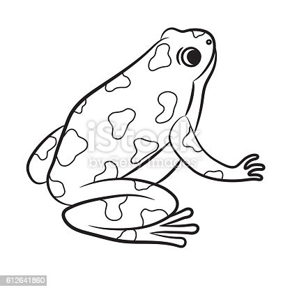 dark frog coloring pages - photo#9