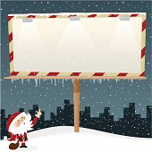 Santa Claus and billboard. Please see some similar pictures in my lightboxs: